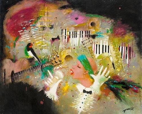 """Oil painting """"Jazz"""" by Tatyana Palchuk"""